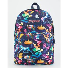 Jansport Rainbow Mania Superbreak Backpack (120 BRL) ❤ liked on Polyvore featuring bags, backpacks, rainbow backpack, jansport backpack, knapsack bag, jansport bags and day pack backpack