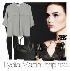 """""""Lydia Martin Inspired #4"""" by emily1d567 ❤ liked on Polyvore featuring moda, Topshop, PYRUS e Prada"""