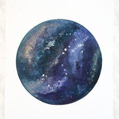 Stampa Galaxy, Galaxy Art, Galaxy pittura, spazio arte, arte celeste, pianeta…