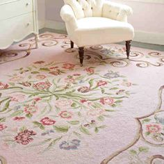 Shabby Chic - Pink Rug with Roses