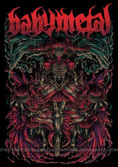 Like every metal band, Babymetal has their own T-shirt sold at their concerts. Right now, Babymetal has over unique T-shirt design. Poster Wall, Poster Prints, Heavy Metal Art, Black Metal, Rock Band Posters, Metal Bands, Cool Wallpaper, Picture Wall, Wall Prints