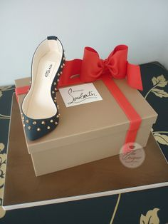 Louboutin shoe box cake