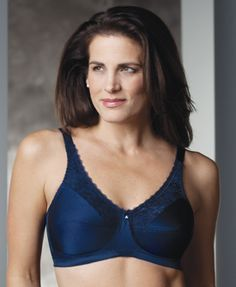 8975af04dfb32 Trulife Post Mastectomy (Pocket) Lace Accent Softcup Bra -- Barbara (  Midnight Blue) - a deal food