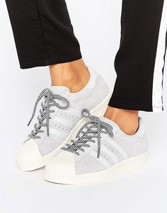 adidas Originals Gray Suede Superstar Sneakers