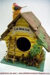 casa de passarinho em pintura country - Google Search