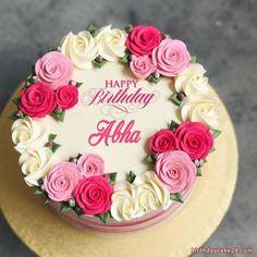 Birthday Cake Write Name, Online Birthday Cake, Birthday Cake Writing, Birthday Wishes Cake, Birthday Cake With Flowers, Cake Name, Mother Birthday Cake, Write Name On Cake, Birthday Cake Greetings