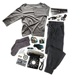 """""""emo today :\"""" by desertrat ❤ liked on Polyvore featuring Aesop, CASSETTE and Mudd"""