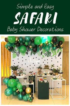 Easy DIY Safari theme baby shower ideas Baby Shower Decorations For Boys, Boy Baby Shower Themes, Baby Shower Fun, Safari Theme Baby Shower, Party Hard, Baby Shower Invitation Cards, Baby Shower Backdrop, Easy Diy, Instagram