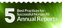 5 Best Practices for Successful Nonprofit Annual Reports