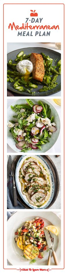 7-Day Mediterranean Diet Meal Plan | This weeks meal plan makes it even easier to follow the Mediterranean diet with seven days of fresh and healthy dinners. #health #fitness #weightloss #healthyrecipes #weightlossrecipes