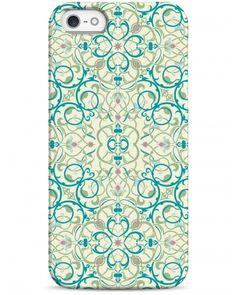 Красивый голубой орнамент - iPhone 5 / 5S / 5C  Дизайнерские чехлы для iPhone