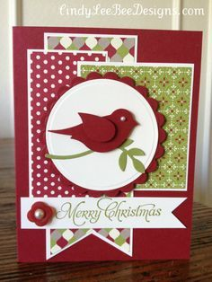 merry moments bird punch Christmas