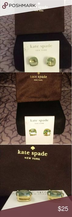 Kate Spade Square Aquamarine Stud Earrings! Kate Spade Square Aquamarine Stud Earrings     Beautiful and Brand new! Goes with everything, lovely! Thank you for shopping my closet! kate spade Jewelry Earrings