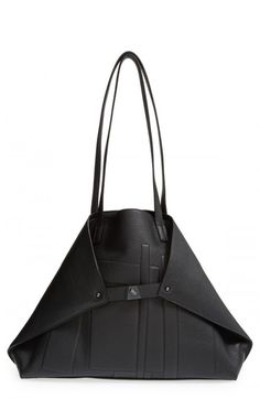 Akris Women's Ai Shoulder Calfskin Leather Tote Black | Bag