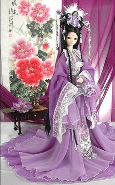 Purple Chinese doll China Doll: