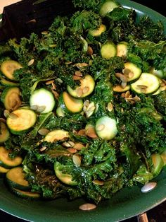 Feeding Ger Sasser: Zucchini and Kale Skillet