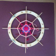 Mágico círculo 9 pulgadas 23 cm Mandala de Ojo-de-Dios