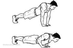 Diamond / Pyramid / Triceps Push-ups / Pushups Back Workout Men, Push Up Workout, Triceps Workout, Floor Workouts, Easy Workouts, Floor Exercises, Workout Guide, Workout Videos, Calisthenics