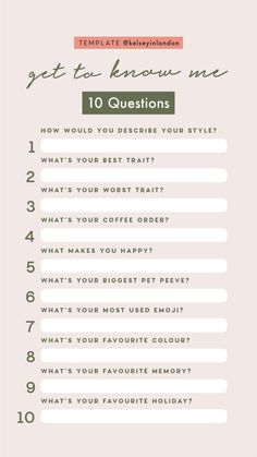 Personal Story Templates by Get To Know Me quizzes. Instagram Story Questions, Instagram Story Template, Instagram Story Ideas, Instagram Templates, Fun Questions To Ask, About Me Questions, This Or That Questions, Instagram Challenge, Get To Know Me