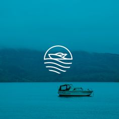 Boat service logo on Behance Minimal Logo Design, Round Logo Design, Graphic Design, River Logo, Art Deco Logo, Nautical Logo, Sea Logo, Boat Brands, Summer Logo
