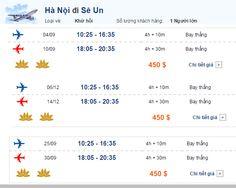 Hãng hàng không Vietnam Airlines lại tung ra loạt vé máy bay đi Seoul chỉ với 450 USD cho các tín đồ thích du lịch Hàn Quốc, thăm than, công tác hay du học tại Hàn Quốc. Phải nói đó là mức giá ưu đãi hấp dẫn với chặng bay khứ hồi từ Hà Nội đi Seoul