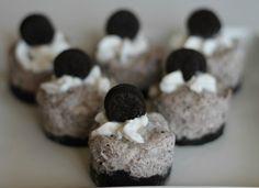 Oreo Cookies N Cream No Bake Mini Cheesecake Recipe