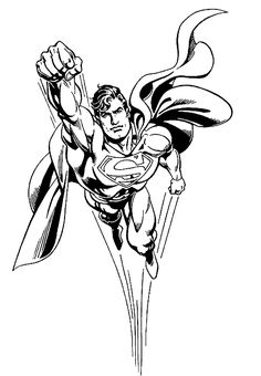Superman Flying Superman Coloring Pages Free Printable Ideas