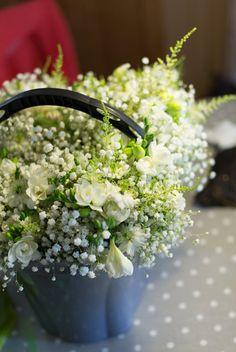 Pretty basket of flowers.