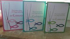 Kommunion - Konfirmation Karten  Karten gestalten mit Stampin up  Elegantes Gitter