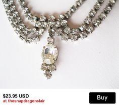 Gorgeous rhinestone #wedding or #bridal necklace.