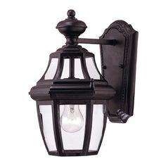 Savoy House Endorado 1-Light Outdoor Wall lantern Finish: Black