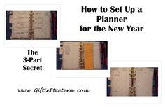 How to Set Up Your Planner for the New Year in 3 Parts - Calendar, To Do List, and Daily Plan Carpe Diem Planner, Planner Organization, Filofax, Time Management, Printables, Planners, How To Plan, Journaling, Learning