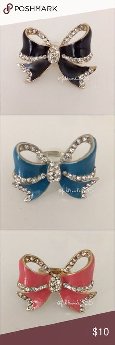 ❤️ Bow Ring (adjustable) Bow Ring (adjustable) **Price is for one ring.** Jewelry Rings