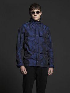 Men's Pretty Green Iridescent jacket Blue Nylon Size XL
