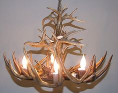 Whitetail Deer Antler Chandelier  Real Antler by CustomAntlers #hvnyteam