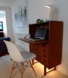 Image result for livingroom computer desk