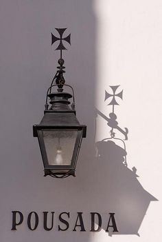 Detail of Street lamp in Estremoz, Portugal
