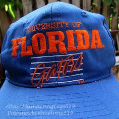 Vintage 1980s 1990s UF University of Florida Gators Snapback Baseball Hat  Cap  DesignerAward   02d2cdd8242f