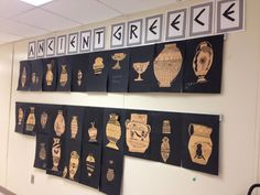 It is Ancient Greece overload in my classroom this week! Here are two fun activities that my kids LOVED! I also played traditional Greek mus. Ancient Greece Crafts, Ancient Greece Lessons, Ancient Greece For Kids, Ancient Greek Art, Ancient Greece Display, Greek History, Ancient History, Black History, Greece Party