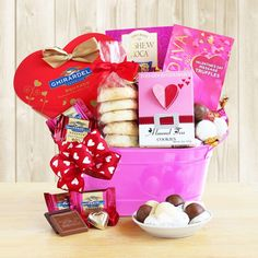 Sweets Gift Tin Basket Their hearts will fill with love and affection when they receive this wonderful tin filled with sweets of all kinds.