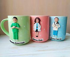 Gifts diy funny mugs 36 ideas Funny Coffee Mugs, Coffee Humor, Funny Mugs, Coffee Cup, Polymer Clay Crafts, Diy Clay, Gifts For Surgeons, Clay Mugs, Doctor Gifts
