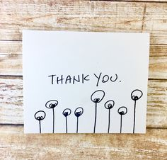 Set of 10 Blank Notecards, unique thank you card, Hand Lettered Thank You Card Set, Thank You Note Card Set, alien thank you, antenna by SideSandwich on Etsy