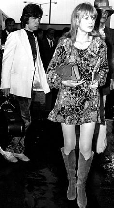 Marianne Faithfull and Mick Jagger. The Rolling Stones Anita Pallenberg, Bianca Jagger, Estilo Rock, Estilo Hippie, Patti Hansen, Jean Shrimpton, Glamour, Coachella, 70s Fashion