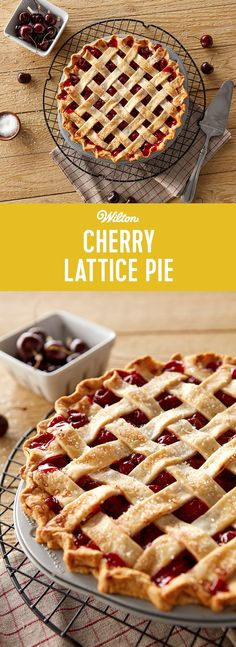 Cherry Lattice Pie Recipe - Learn how to make the most delicious homemade cherry pie with this easy recipe! This cherry pie is perfect for gatherings with friends and family including Thanksgiving. Recipe makes about 6-8 servings.