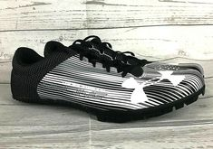 53e88f397d07 Under Armour UA Kick Sprint Spikes Racing mens 11.5 black white track shoes  #Underarmour #