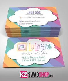 LulaRoe Business Cards Style 3