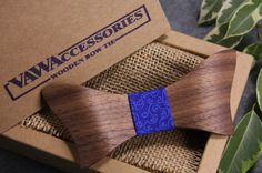 Wooden Bow Tie Gifts For Men Wooden Accessories by VAWAccessories