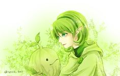 Saria and the Deku Sprout by すずめ     ‏@spica_tori