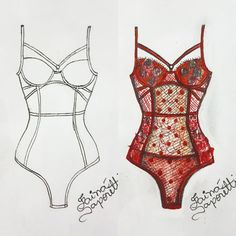Lingerie Illustration, Fashion Illustration Sketches, Fashion Sketchbook, Fashion Sketches, Illustrations, Moda Fashion, Fashion Art, Fashion Design Drawings, Drawing Fashion