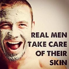 """""""Real men take care of their skin."""" There's no shame in using products or getting a facial now & then!  #Realmen #skincare #organic #beauty #SimplyRadiantBeauty #sexyboy  #Regram via @simplyradiantbeauty"""
